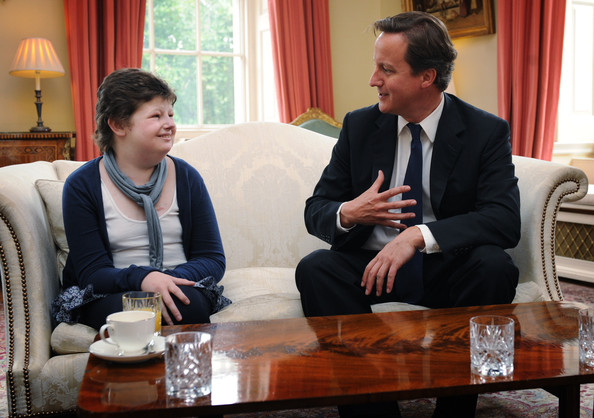 Alice with the Prime Minister David Cameron