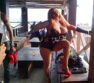 Cossy poses for new video