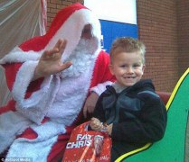 Aaron with santa