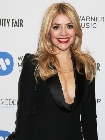 Holly's boobs on display