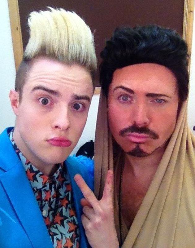 Jedward and Keith Lemon of celebrity juice show