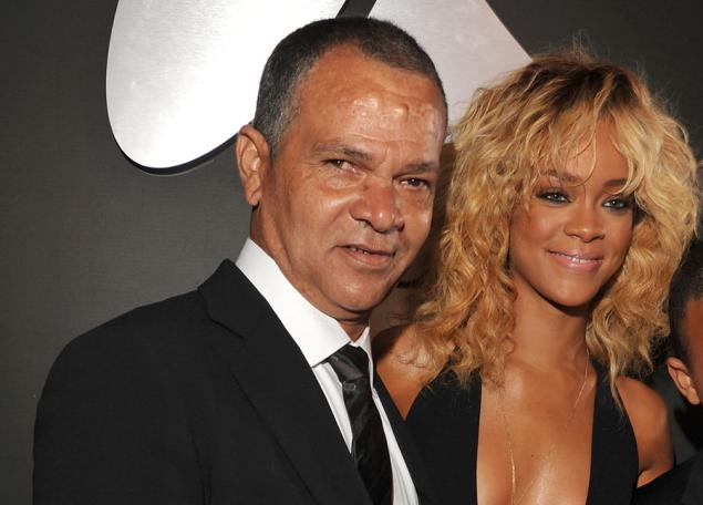 Rihanna and Dad