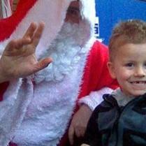 Santa and Aaron 1