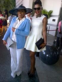 Rita Dominic and Susan Peters