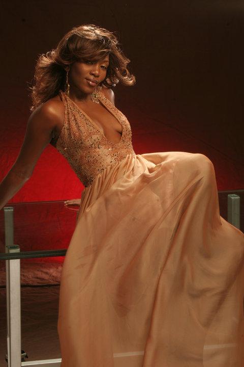Genevieve Nnaji in a flowing lovely dress!