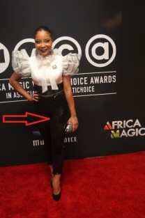 Linda Ejiofor..the lacy leggins on that red carpet made it look like you were going on lunch date with the girls.