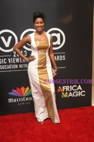 Stephnie Okereke: She is pretty, however, the dress is too safe for you. Try taking a risk next time and dress to kill.