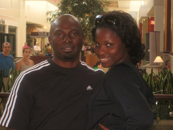 Blessing and husband Michael Egbe