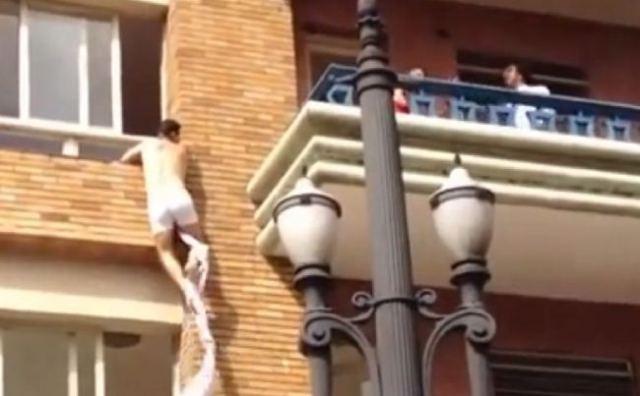 cheating man jumps