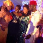 Tiwa Savage with the couple