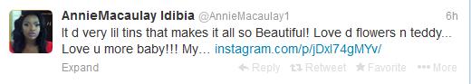 Annie tweet