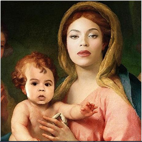 Beyonce as Virgin Mary