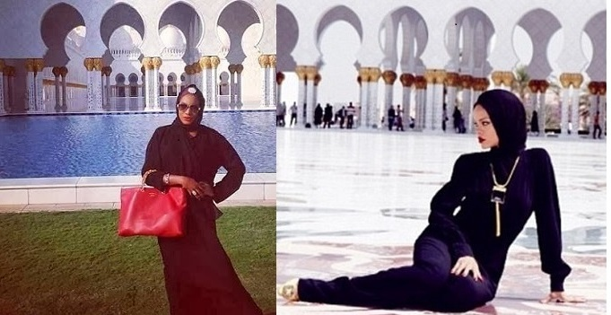 Nollywood Actress Chika Ike Vs Rihanna At Sheikh Zayed Mosque Abu
