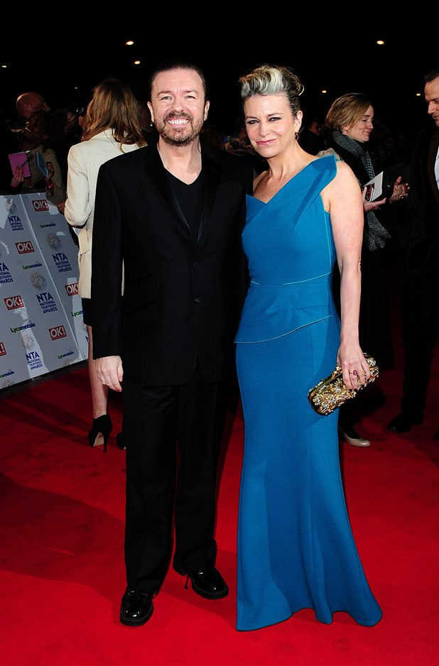 uktv-national-television-awards-2014-ricky-gervais-jane-fallon
