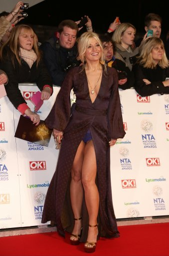 Rachel Wilde mistakenly flashed her blue underpants on the red carpet at National Television Awards 2014