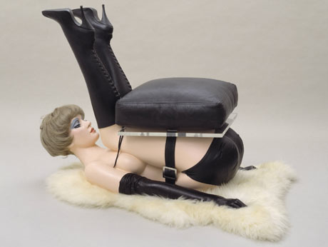 Chair by Allen Jones, 1969, which depicts a woman bent into the shape of furniture