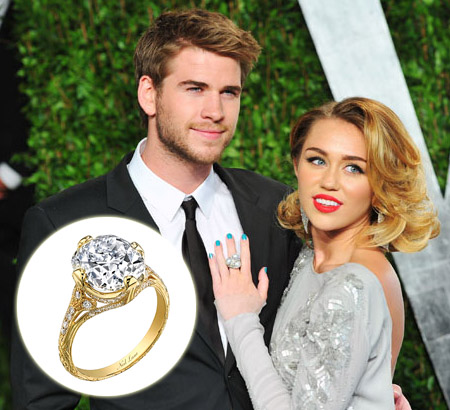 Miley Cyrus Engagement Ring Liam
