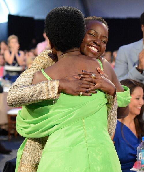 Lupita Hugging her mum