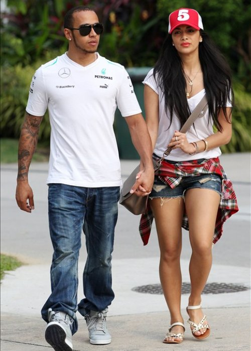 nicole and Lewis Hamilton