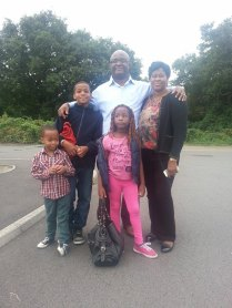 Vic's happy beautiful family