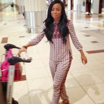 Toke Makinwa Arrives In Dubai