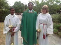 Fr Jo with altar servants