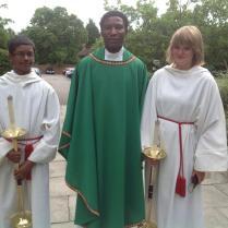 Fr Jo with altar servants