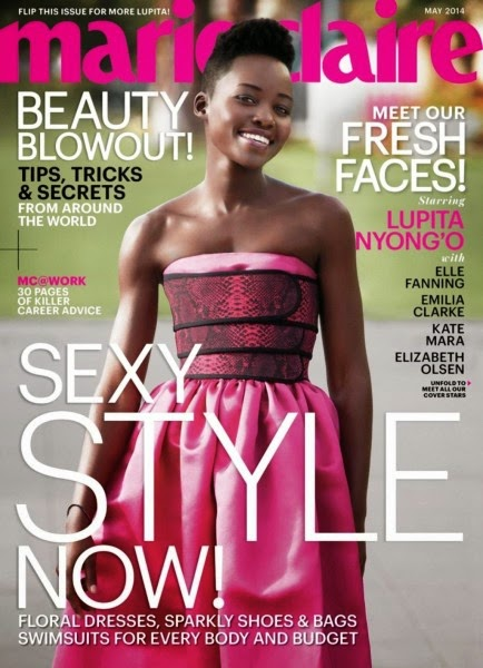 lupita Nyong'o Marie Claire May 2014 cover girl