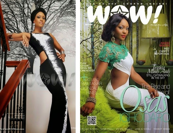 Osas Ighodaro covers Wow magazine