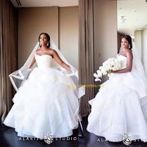 Tiwa Savage Wedding dress