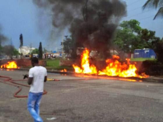 Fire Outbreak In Lekki Lagos