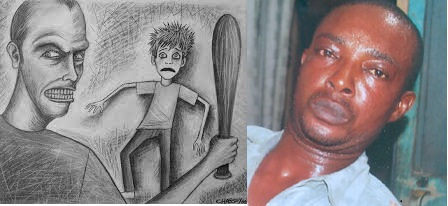 This man is the perpetrator who killed a young relative for 1,000 naira