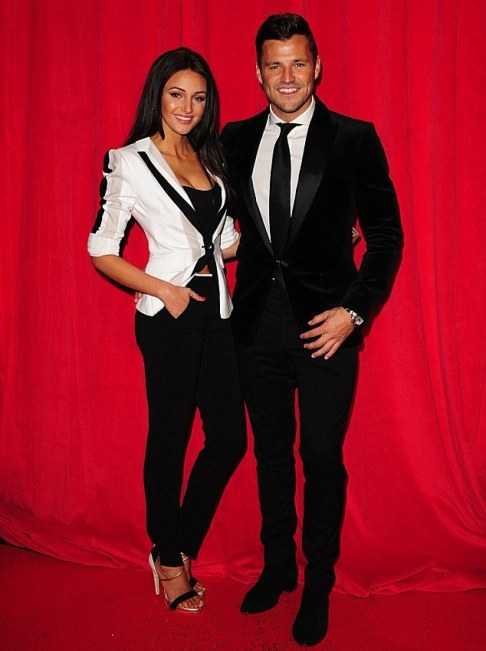 Michelle Keegan and Mark at British Soap Awards 2014