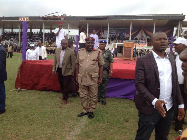 rochas Okorocha in Scout Uniform