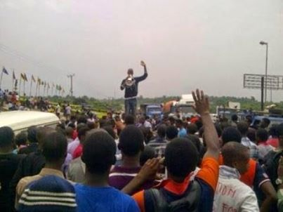 OAU student's protest