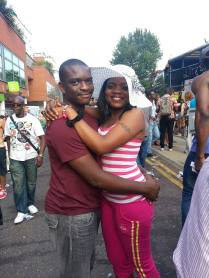 My love and I at the Nottinghill Carnival London