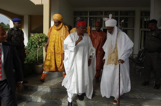 From left Governor Kwankwaso and Sanusi Lamido